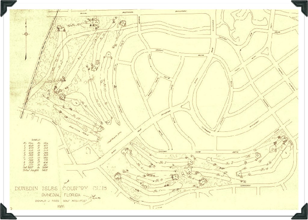 Map Of Dunedin Florida.Florida Historic Golf Trail