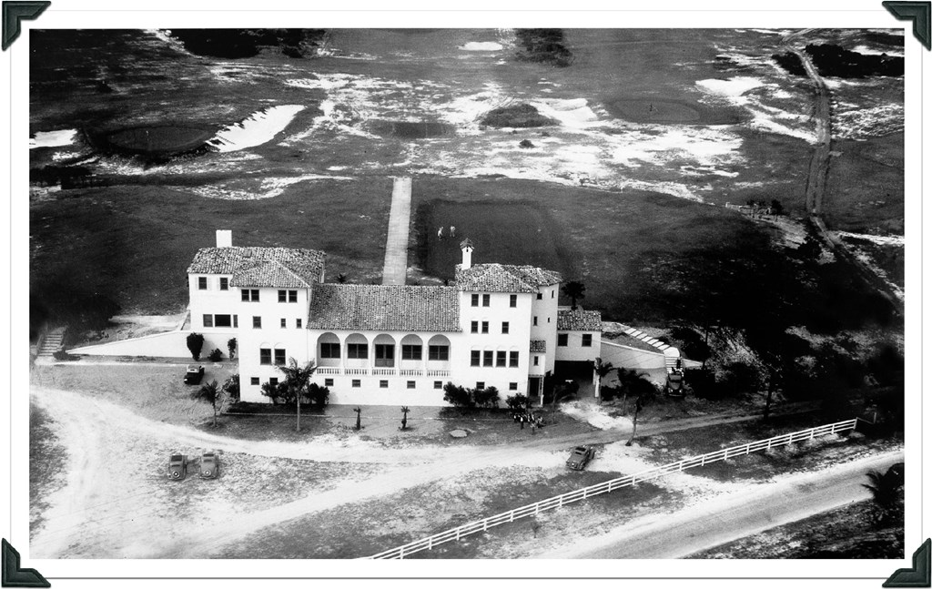 Historic Aerial Of North Palm Beach Country Club
