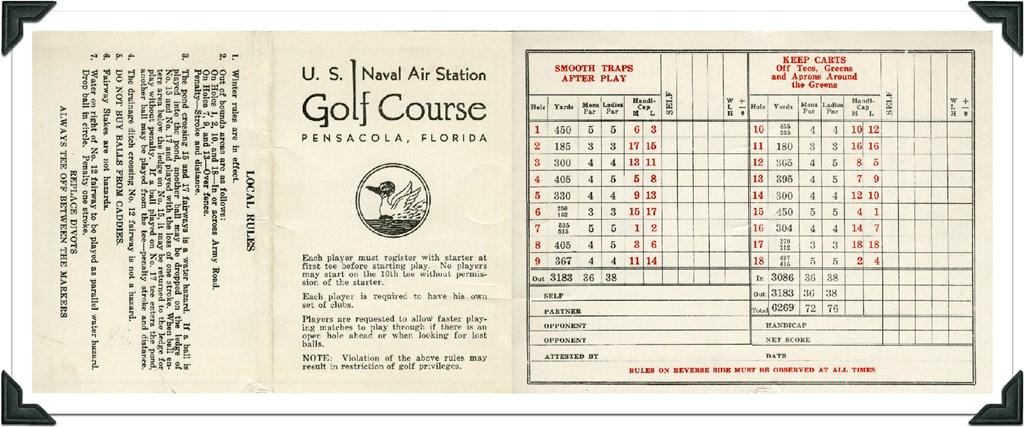 how to read golf scorecard australia