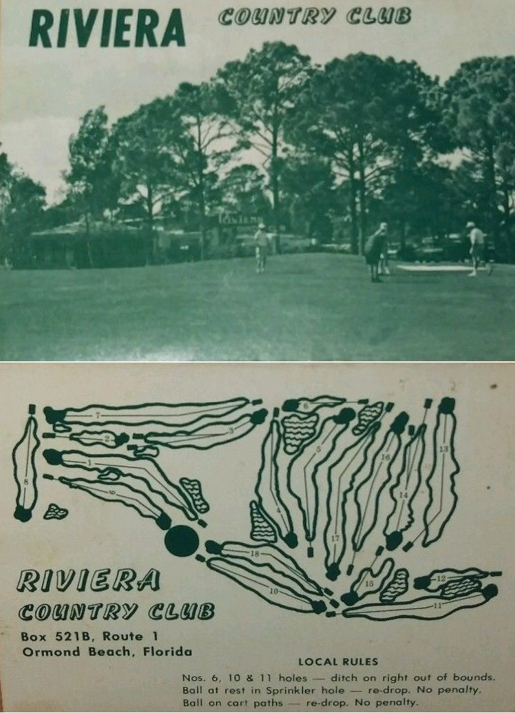 Riviera Country Club Scorecard From 1974